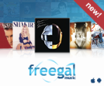Web button for Freegal Music service.